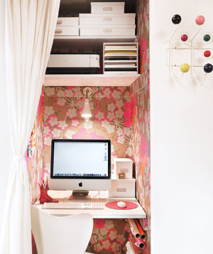 Converted closet for a home office